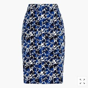 J. Crew Factory Stretch Cotton Sateen Pencil Skirt